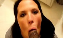 Sucking Black Cock is Such Enjoyment for Brunette Woman