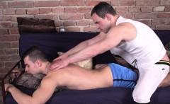 Massage twink assfingered by masseur