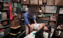 Hot Brooke Bliss fucked in the back of the store