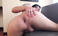 Latina shemale sucking dildo