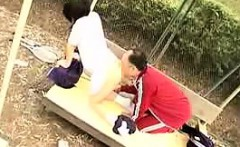 Naughty Japanese teen has an older man fucking her tight sl