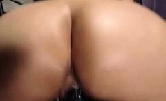 Big butt black masturbating vaginal with bbc