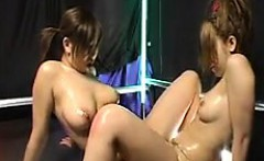 bodacious japanese lesbians provide to each other outstandi