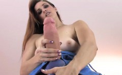 Foxy sweeties nail the biggest strapon dildos and spray juic