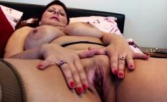 Big breasted British lady fooling around
