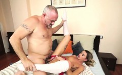 russian katrin tequila banged in her pussy by horny grandpa