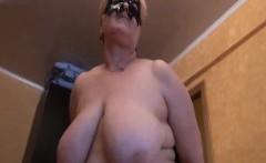 Russian granny undressing