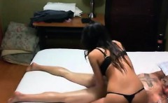 Massage and happy final Blowjob