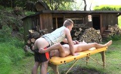 Twink Amateur Massages And Jerking Outdoors