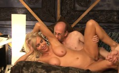 amazing blonde gets screwed in a gangbang
