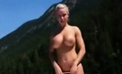 Hot stacked blonde fucked on river boat