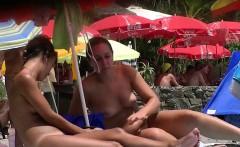 nice young tits   beach voyeur video