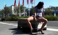 Milf masturbation in precisely the road in public adult tha