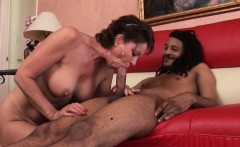 Busty MILF Vanessa takes some black cock