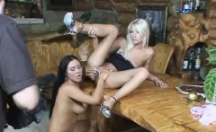 Dildo toying Valentina Velasquez and Jordan