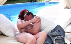 redhead gilf banged in outdoor action