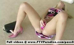 Vicki tender teenage blonde toying