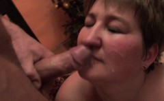 Busty mature plumber fucked and facialized