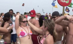 Raunchy hotties have fun at the beach
