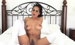 abby is a hot latina with thigh high socks fucks live