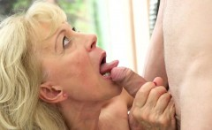 Creampied grandma sucking