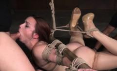 Hogtied Milf Slave Deepthroats Masters Cock