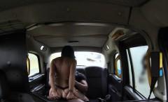 Inked female cab driver gets big black cock