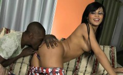 Big boobs shemale with glasses ass banged by black man