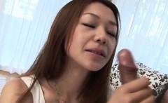 Cute, Serina Hayakawa, starts throating cock in POV