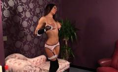 British maid voyeur humiliates wanking guy