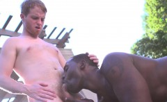Ginger bottom tugs while bbc daddy rams him