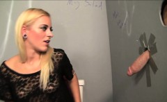 slutty gloryhole scene with cameron canada using bathroom