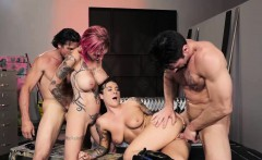 tattooed riders foursome sex in an abandoned clubhouse