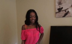 Ebony Girlfriend Anally Screwed On All Fours