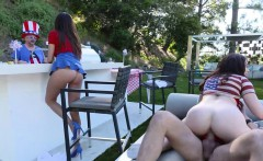 4th of July turns to 3some sex with mom and stepsiblings