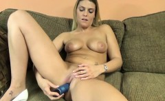 stevie rae uses a toy on her tight twat