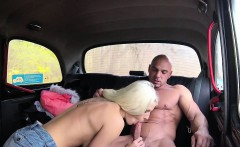 FemaleFakeTaxi Bodybuilder makes busty blonde cum