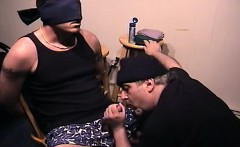 Sexy Blindfolded Hunk Serviced By Older Man