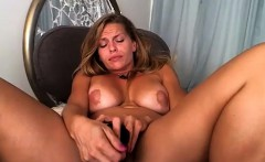 sexy blonde milf riding a dildo