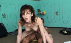 Nerdy girl likes studying as well as priceless sex session