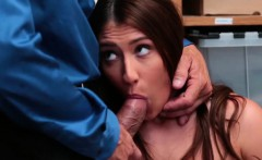 Stunning Teen Shoplifter Davina Davis Busted & Banged
