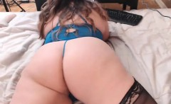 Sexy european in lingerie stockings ass fucked
