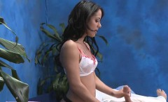 slutty girl knows how to give a proper massage to a guy