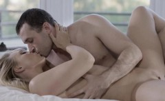 Horny blonde AJ Applegate worships thick huge cock
