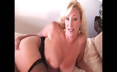 Hooker lets me blow my load on her tits