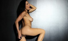 Hot brunette anal satisfies herself with a toy