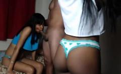 FFM Black Ebony Threesome Oral