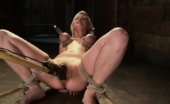 Tied up blonde babe fucked hardcore