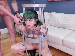 Naughty cutie is brought in anal loony bin for awkward treat