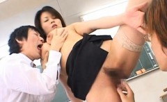 Older teacher gets her mounds squeezed and licked